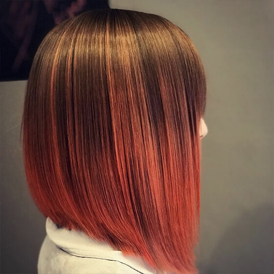 Rövid vörös haj