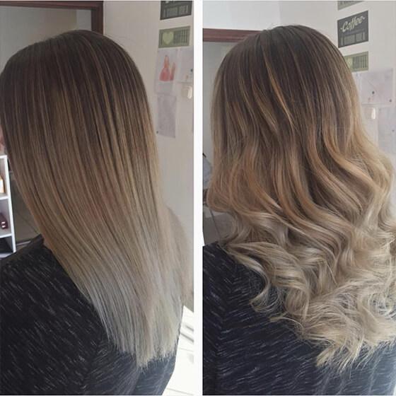 Göndörített frizura